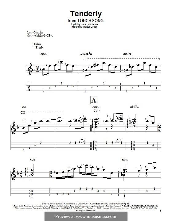 Tenderly: para ukulele by Walter Gross