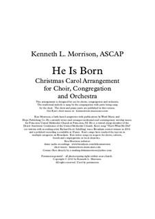 He is Born, the Holy Child (Il est ne, le divin enfant): Para coro misto e piano by folklore