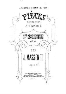 Suite for Piano Four Hands, Op.11: movimento I by Jules Massenet