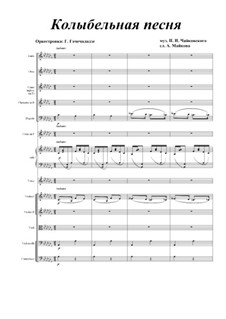 Six Romances, TH 95 Op.16: No.1 Cradle Song, for voice and orchestra by Pyotr Tchaikovsky