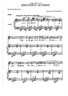 Sérénade d'automne: para voz media e piano by Jules Massenet