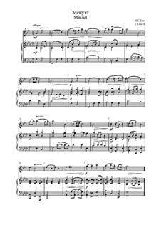 Minuet: Version for soprano saxophone (or clarinet) and piano by Johann Sebastian Bach