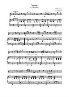 Écossaise in G Major, WoO 23: para alto saxofone e piano by Ludwig van Beethoven
