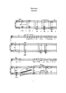 Sonnet: para voz alta e piano by Jules Massenet