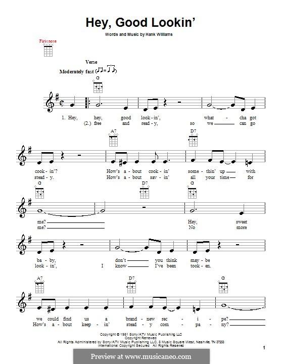 Hey, Good Lookin': para ukulele by Hank Williams