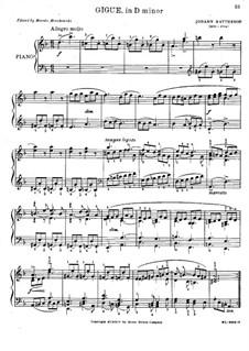 Suite No.1 in D Minor: Giga by Johann Mattheson