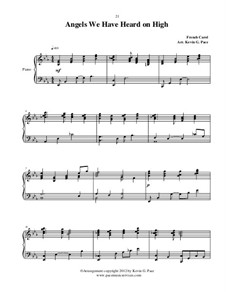 Angels We Have Heard on High: Para Piano by Unknown (works before 1850)