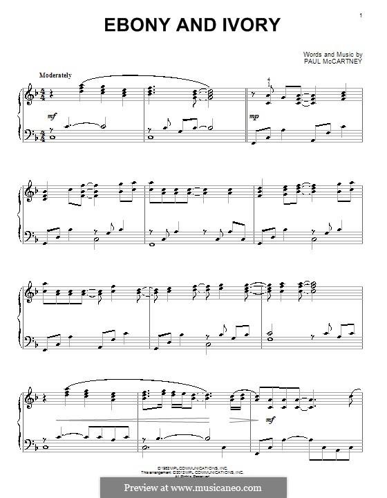 Ebony and Ivory: Para Piano by Paul McCartney