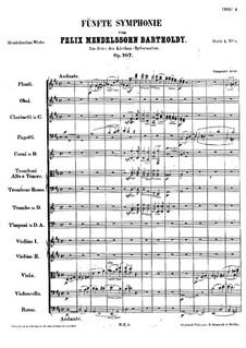 Symphony No.5 in D Major 'Reformation', Op.107: movimento I by Felix Mendelssohn-Bartholdy