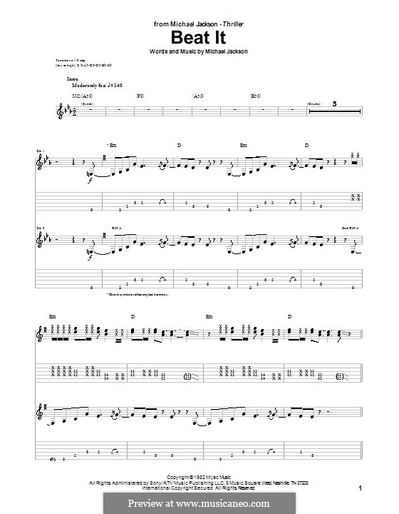 Beat It: Para guitarra com guia by Michael Jackson