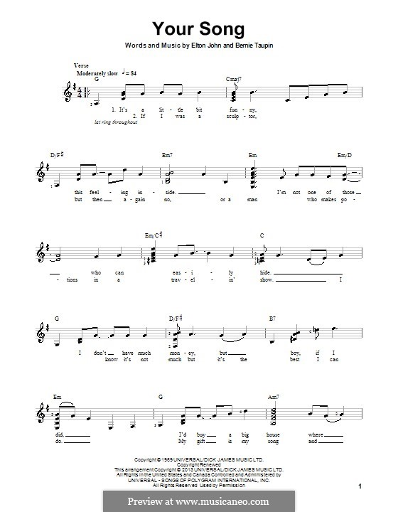 Your Song: Para guitarra com guia by Elton John