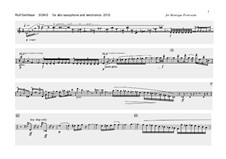 Song for alto saxophone: Song for alto saxophone by Rolf Gehlhaar