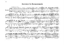 Overture for Wind Instruments, Op.24: versão para piano de quatro mãos by Felix Mendelssohn-Bartholdy