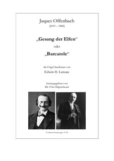 Barcarole: versão para Orgão by Jacques Offenbach