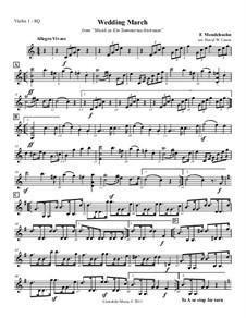 Wedding March: partes - para quarteto de cordas by Felix Mendelssohn-Bartholdy