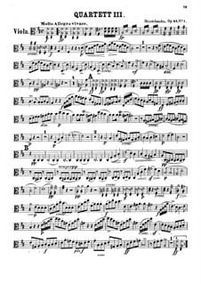 String Quartet No.3 in D Major, Op.44 No.1: parte viola by Felix Mendelssohn-Bartholdy
