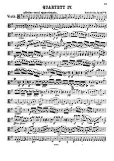 String Quartet No.4 in E Minor, Op.44 No.2: parte viola by Felix Mendelssohn-Bartholdy
