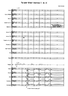 The West Street Variations: 3. No.15 – full score by Martin Twycross