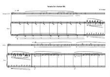 Sonata for Bb clarinet No.1, MVWV 514: Sonata for Bb clarinet No.1 by Maurice Verheul