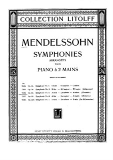 Symphony No.3 in A Minor 'Scottish', Op.56: versão para piano by Felix Mendelssohn-Bartholdy