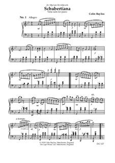 Schubertiana - waltz suite for piano: Schubertiana - waltz suite for piano by Colin Bayliss