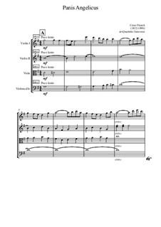 Panis Angelicus (O Lord Most Holy): para quartetos de cordas by César Franck