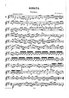 Sonata for Violin and Piano No.22 in A Major, K.305: Parte de solo by Wolfgang Amadeus Mozart