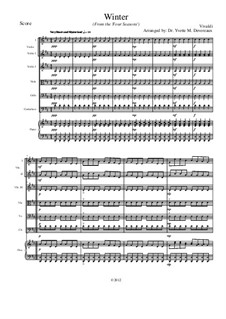 Violin Concerto No.4 in F Minor 'L'inverno', RV 297: Movement I, for school string orchestra – score by Antonio Vivaldi