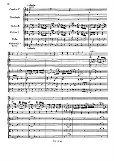 Concerto for Piano and Orchestra No.1 in F Major, K.37: Movimentos II-III by Wolfgang Amadeus Mozart