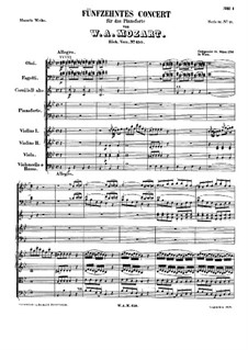 Concerto for Piano and Orchestra No.15 in B Flat Major, K.450: movimento I by Wolfgang Amadeus Mozart