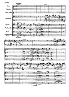 Concerto for Piano and Orchestra No.15 in B Flat Major, K.450: movimento II by Wolfgang Amadeus Mozart