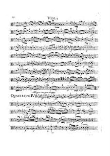 String Quartet No.17 in B Flat Major 'Hunt' , K.458: parte viola by Wolfgang Amadeus Mozart