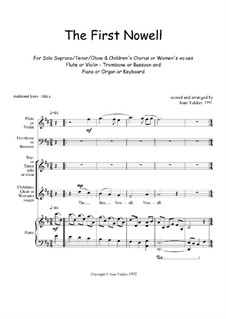The First Nowell (The First Noël): For voices and instruments by folklore