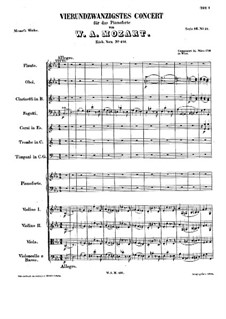 Concerto for Piano and Orchestra No.24 in C Minor, K.491: movimento I by Wolfgang Amadeus Mozart