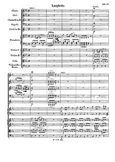 Concerto for Piano and Orchestra No.24 in C Minor, K.491: movimento II by Wolfgang Amadeus Mozart