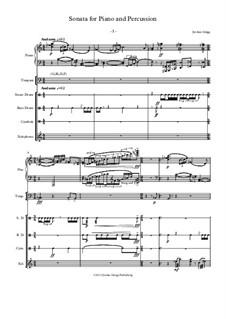 Sonata for Piano and Percussion: Sonata for Piano and Percussion by Jordan Grigg