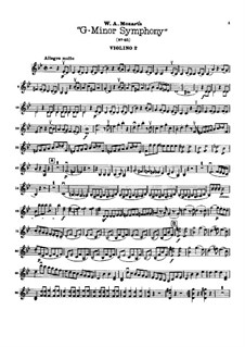 Complete Movements: violino parte II by Wolfgang Amadeus Mozart