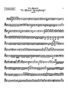 Complete Movements: parte violoncelo by Wolfgang Amadeus Mozart