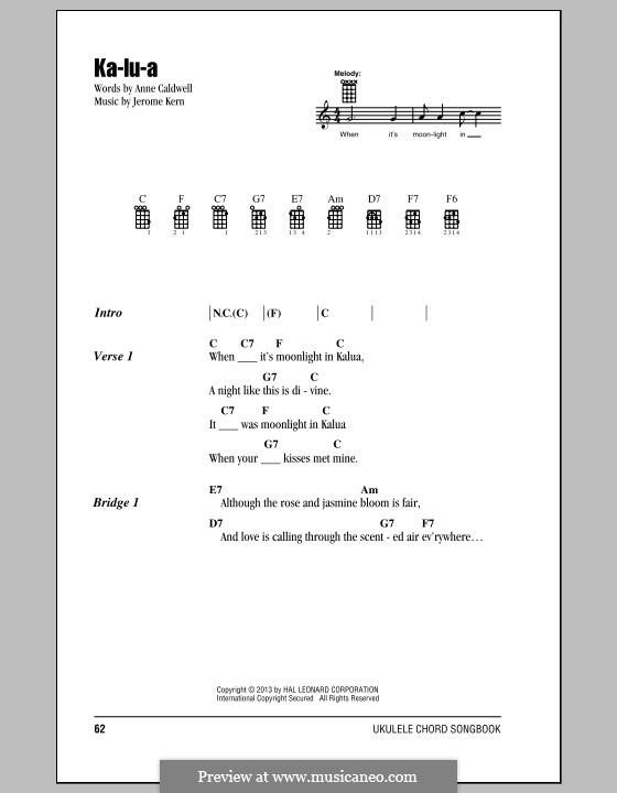 Ka-lu-a: para ukulele by Jerome Kern