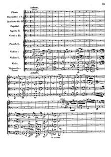 Concerto for Piano and Orchestra No.22 in E Flat Major, K.482: movimento II by Wolfgang Amadeus Mozart