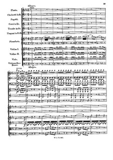 Concerto for Piano and Orchestra No.22 in E Flat Major, K.482: movimento III by Wolfgang Amadeus Mozart