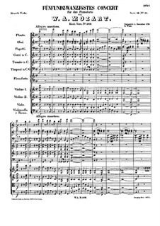 Concerto for Piano and Orchestra No.25 in C Major, K.503: movimento I by Wolfgang Amadeus Mozart