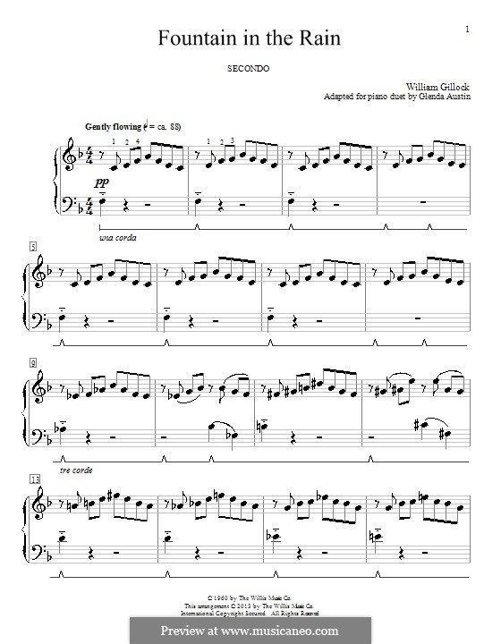 Fountain in the Rain: Para Piano by Glenda Austin