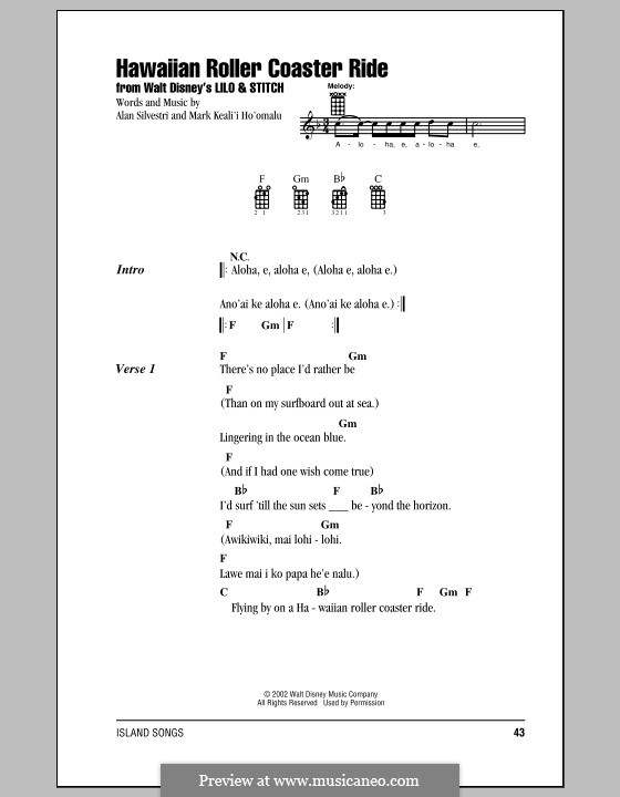 Hawaiian Roller Coaster Ride: para ukulele by Alan Silvestri, Mark Keali'i Ho'omalu