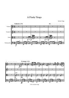 A Flashy Tango: para quartetos de cordas by Jordan Grigg