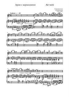 Air variè, Op.2 No.4: para alto saxofone e piano by Jules Demersseman
