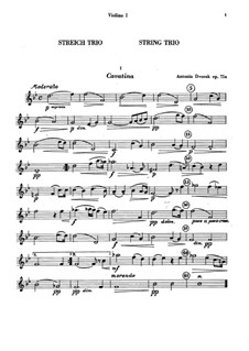 Miniatures for Two Violins and Viola, B.149 Op.75a: partes by Antonín Dvořák