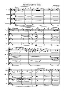 Meditation: para quartetos de cordas by Jules Massenet