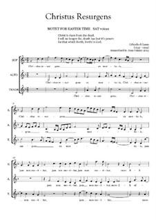 Christus resurgens ex mortuis: partituras de vocais by Orlande de Lassus
