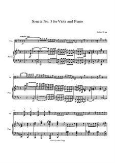 Sonata No.3 for Viola and Piano: Sonata No.3 for Viola and Piano by Jordan Grigg